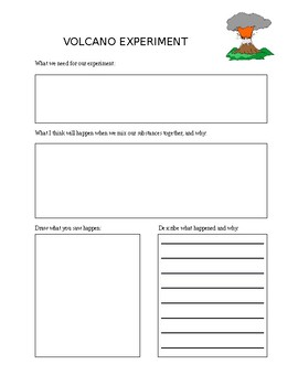 Volcano Experiment Prediction Sheet