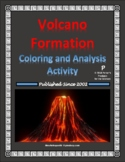 Volcano Formation Coloring & Analysis Classification Activity for Earth Science