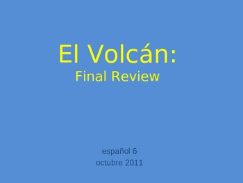 Volcano Game - Final Review