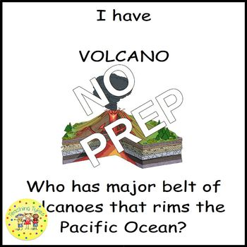 Volcano I Have, Who Has Game