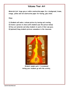 Volcano Learning Activities