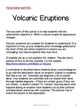Volcano Lesson plans