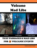 Volcano Mad Libs  - Text Passages and Activites