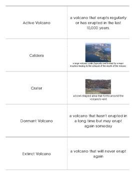 Volcano Matching Game