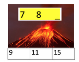 Volcano Math Sequence Clip Cards