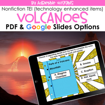 Volcanoes NF TEI Practice (Google Classroom & PDF) Distance Learning