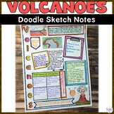 Volcano Natural Disasters Wild Weather Sketch Note Activity