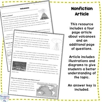 Volcano Nonfiction Article and Activity