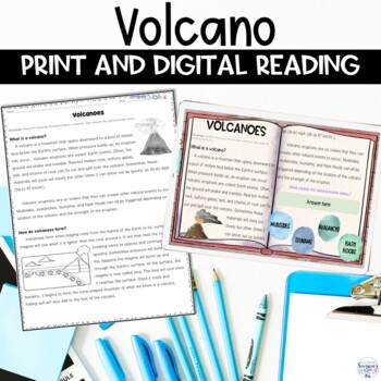 Volcano Nonfiction Reading Comprehension Article