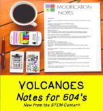 Volcano Notes (Editable)