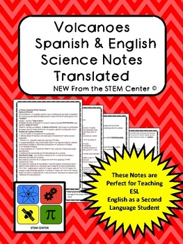 Volcano Notes In Spanish & English