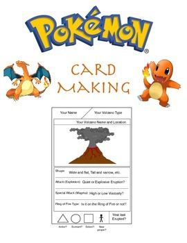 Volcano Playing Card Game (Pokemon-Themed)