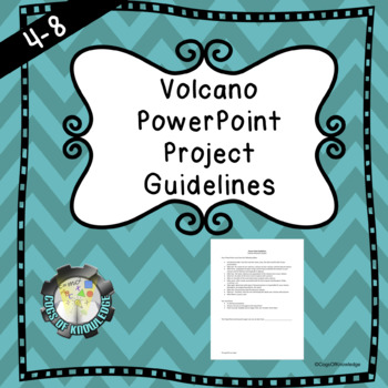 Volcano Power Point Project Guidelines