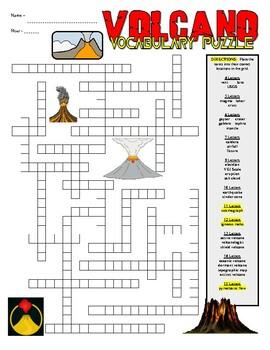 Volcano Puzzle Sheet
