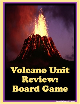 Volcano Unit Review - Class, Group and Center Activity Game