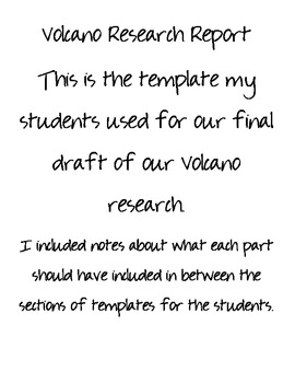 Volcano Research Packet