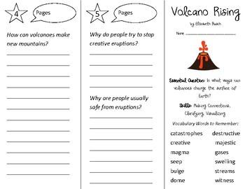 Volcano Rising Trifold - Open Court 2nd Grade Unit 2 Lesson 6