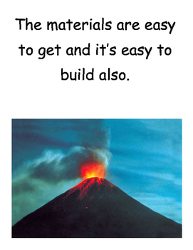 Volcano Science Activity Craft