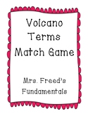 Volcano Terms Match Game