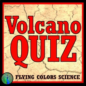 Volcano Test / Quiz Assessment or Worksheet Middle School MS-ESS-2-2 MS-ESS2-3