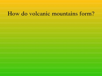 Volcano Test Review
