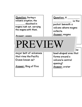 Volcano Test Review Board Game