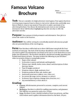 Volcano Travel Brochure