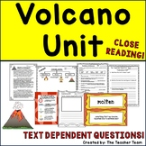 Volcanoes Unit with Passages & Text Dependent Questions for Close Reading