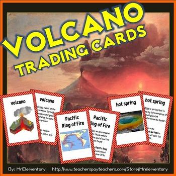 Volcano Vocabulary Trading Cards