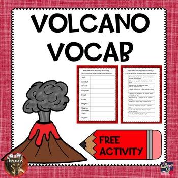 Volcano Vocabulary Activity