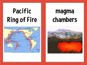 Volcano Vocabulary Trading Cards and Word Wall