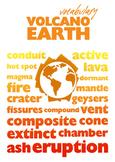Volcano Vocabulary Poster A4