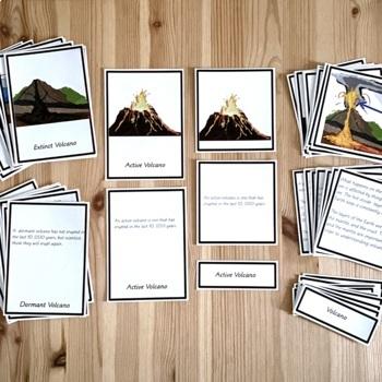 Volcano Vocabulary cards