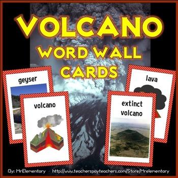 Volcano Vocabulary Word Wall