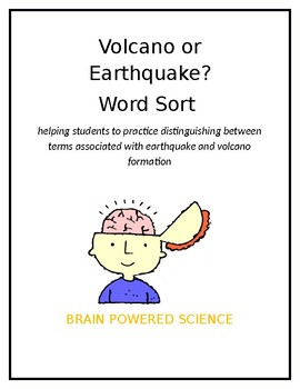 Volcano or Earthquake? A Word Sort