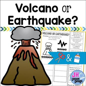 Volcano or Earthquake? Cut and Paste Sorting Activity