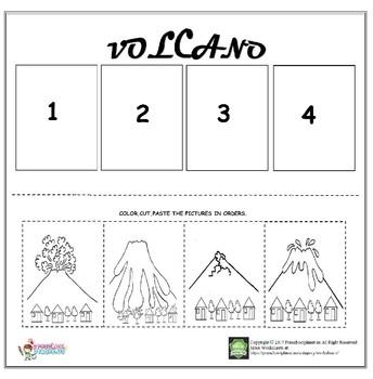 Volcano sequencing worksheet
