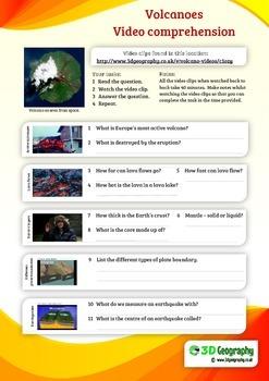 Volcano video webquest