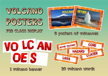 Volcano words for word wall
