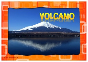 Volcano words for word wall - free version