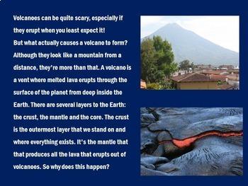 Volcanoes PowerPoint | Volcano Power Point Activity
