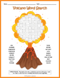 Volcanoes Word Search Puzzle