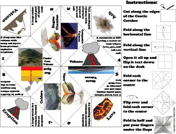 Volcanoes Activity/ Foldable (Geology Unit)