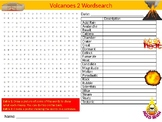 Volcanoes #2 Wordsearch Sheet Starter Activity Keywords Geography Science
