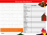 Volcanoes #3 Wordsearch Puzzle Sheet Keywords Geography Geology