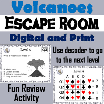 Volcanoes Activity: Escape Room - Science