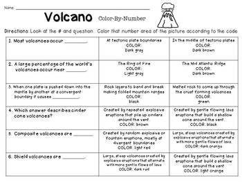 Volcanoes Color-By-Number