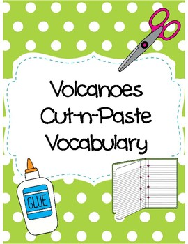 Volcanoes Cut-n-Paste Vocabulary
