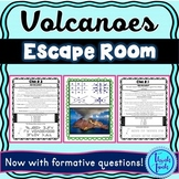 Volcanoes Escape Room! Natural Disasters - Earth Science - NO PREP, PRINT & GO!