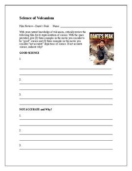 Dante S Peak Worksheets Teaching Resources Teachers Pay